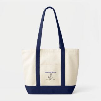 Pompano Beach, FL - Ship's Anchor Tote Bag