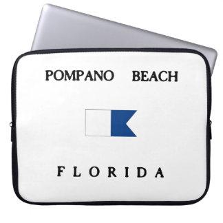 Pompano Beach Florida Alpha Dive Flag Laptop Computer Sleeves