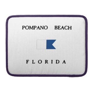 Pompano Beach Florida Alpha Dive Flag MacBook Pro Sleeve