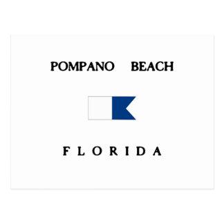 Pompano Beach Florida Alpha Dive Flag Post Cards