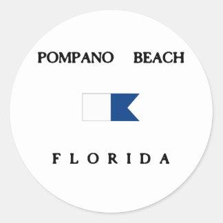 Pompano Beach Florida Alpha Dive Flag Sticker
