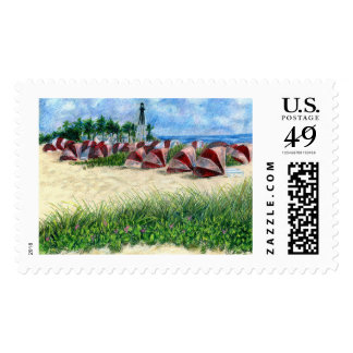 Pompano Beach Florida Cabanas Postage