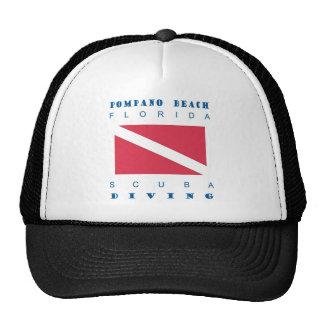 Pompano Beach Florida Mesh Hat