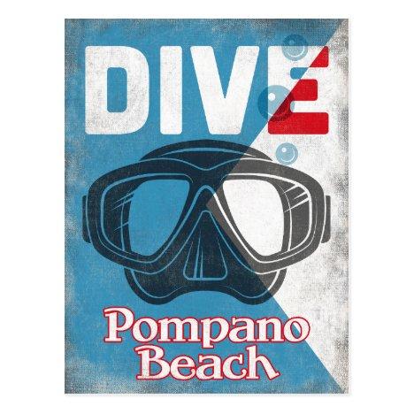 Vintage Scuba Mask - Pompano Beach Florida Gifts