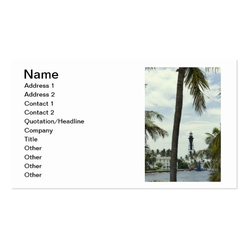 Pompano Lighthouse Double-Sided Standard Business Cards (Pack Of 100)
