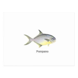 Pompano (titled) postcard