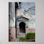 Pompei Ausgrabungen, columnas, Italia, Poster
