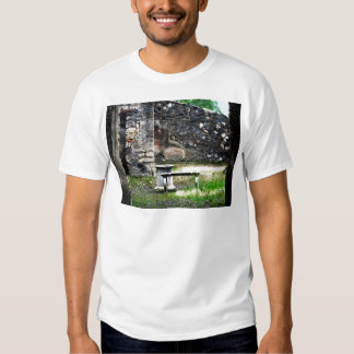 Pompei courtyard marble fountain and bench T-Shirt