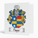 Pompei Family Crest 3 Ring Binders