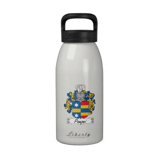 Pompei Family Crest Drinking Bottles