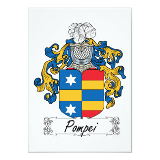 Pompei Family Crest Invite