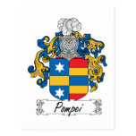 Pompei Family Crest Post Cards