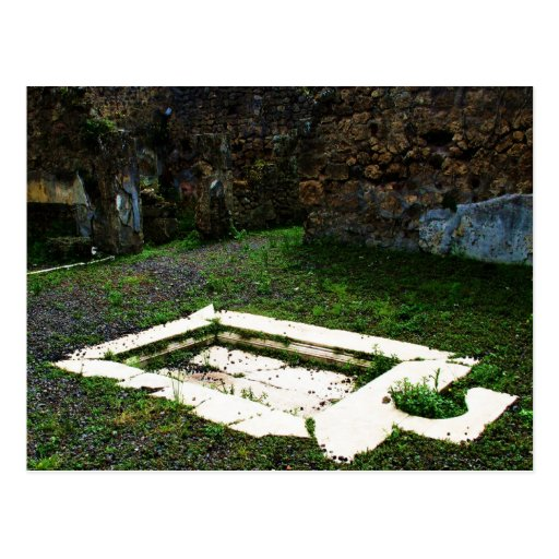 Pompei - Marble Fountain in the Garden of a Villa Post Cards