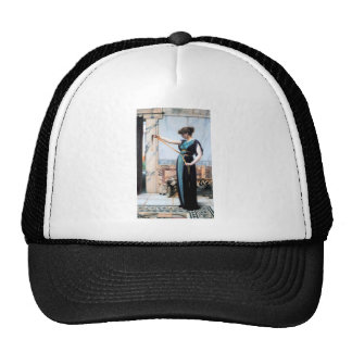 Pompeian Lady Woman painting Godward Trucker Hat