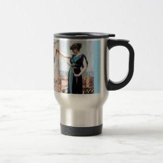 Pompeian Lady Woman painting Godward Travel Mug