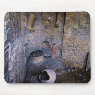 Pompeii - ancient wine-mixing vessels mouse pad