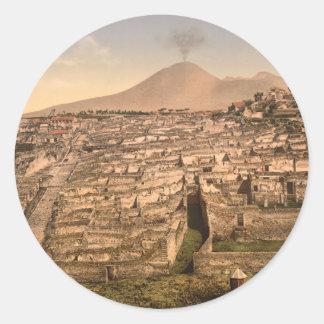 Pompeii and Mount Vesivius, Campania, Italy Stickers