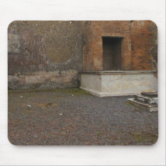 Pompeii- Base of a Column..Relic of Antiquity Mouse Pad
