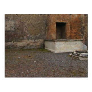 Pompeii- Base of a Column..Relic of Antiquity Postcard