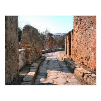 Pompeii, Cobbled streets and narrow sidewalks Postcard