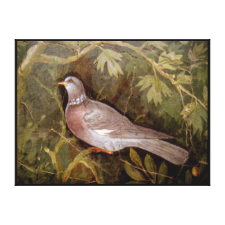 POMPEII COLLECTION / DOVE IN THE GARDEN CANVAS PRINT