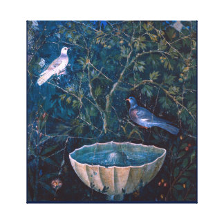 POMPEII COLLECTION / DOVES IN THE GARDEN CANVAS PRINT