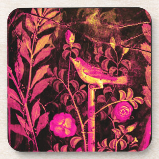 POMPEII COLLECTION / NIGHTINGALE WITH ROSES COASTER