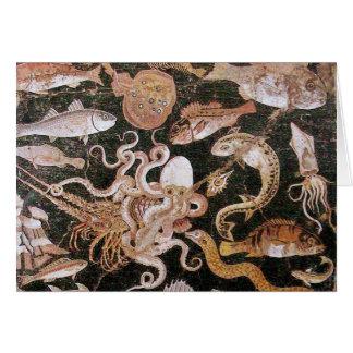 POMPEII COLLECTION OCEAN - SEA LIFE SCENE GREETING CARD