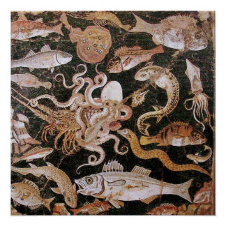 POMPEII COLLECTION / OCEAN - SEA LIFE SCENE POSTER