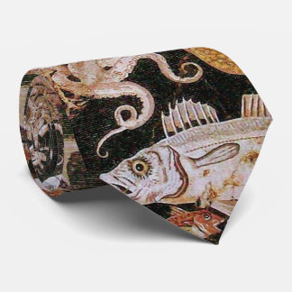 POMPEII COLLECTION / OCEAN - SEA LIFE SCENE TIE