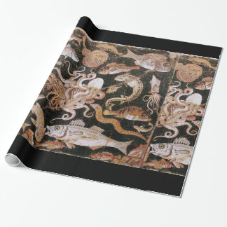 POMPEII COLLECTION / OCEAN - SEA LIFE SCENE WRAPPING PAPER