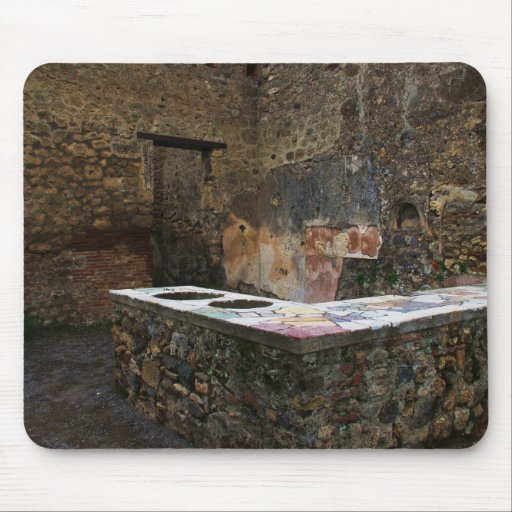 Pompeii - eating place mouse pads