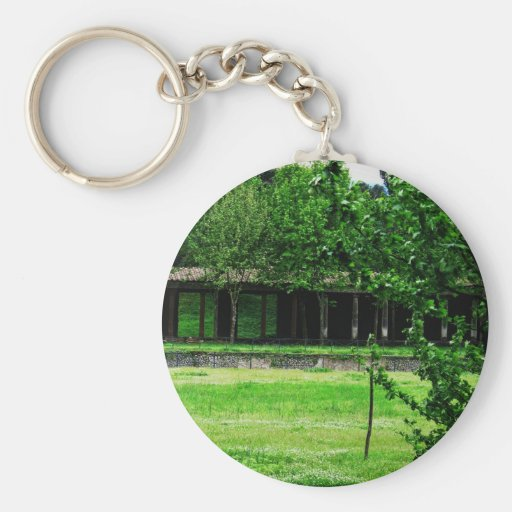 Pompeii - Greenspace with ruins Key Chains