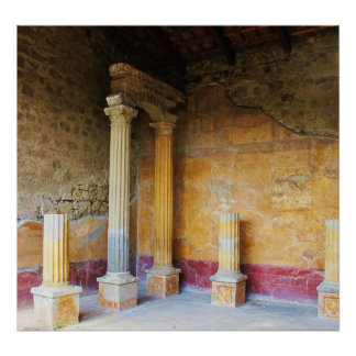 Pompeii - House of the Amorini Dorati Print