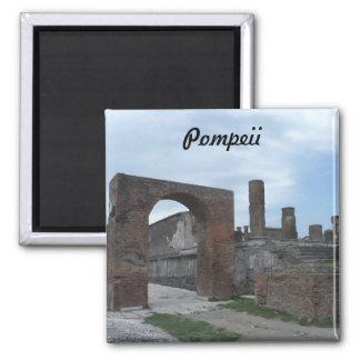 Pompeii, Italy 2 Inch Square Magnet