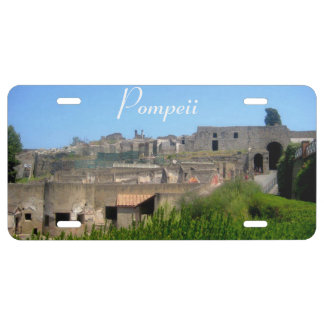 Pompeii Italy License Plate Cover