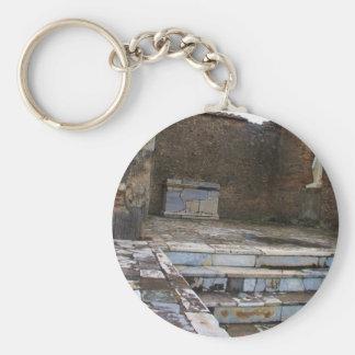 Pompeii - Macellum or Marketplace Basic Round Button Keychain