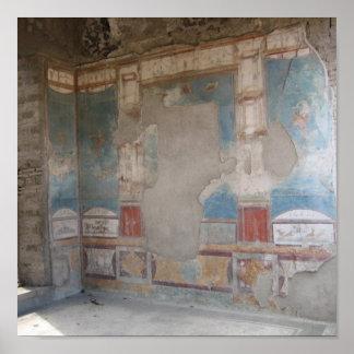 Pompeii room poster