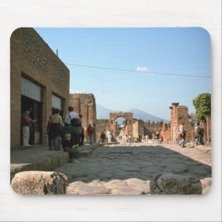 Pompeii, Stepping stones to cross the street Mouse Pad