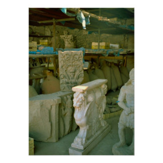 Pompeii, Storage rooms for excavated finds Posters