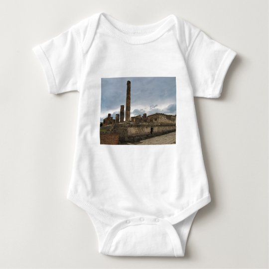 Pompeii - The remaining columns of ancient temple Baby Bodysuit