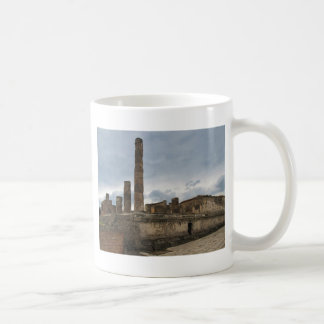 Pompeii - The remaining columns of ancient temple Coffee Mug