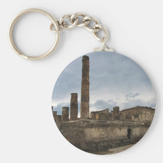 Pompeii - The remaining columns of ancient temple Key Chain