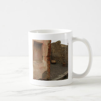Pompeii - Wall lararium - Painting in  Niche Coffee Mug