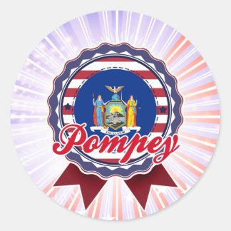 Pompey, NY Round Stickers