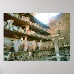 Pompeya, almacén para la cerámica excavada poster