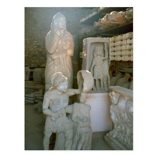 Pompeya, almacenando los artefactos del sitio tarjetas postales