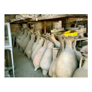 Pompeya, Amphorae del sitio de Pompeya Tarjeta Postal
