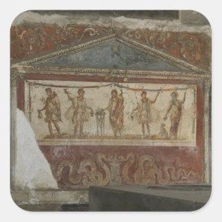 Pompeya atesora a los pegatinas de encargo pegatina cuadrada