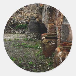 Pompeya - buques antiguos pegatina redonda